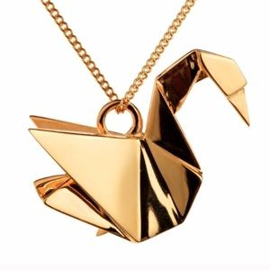 Cute Dainty Woman's Imported Gold Necklace Pendant